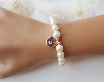 Flower Girl Bracelet Junior Bridesmaids Bracelet Toddler Pearl Bracelet Turquoise Bracelet Flower Girl Jewelry