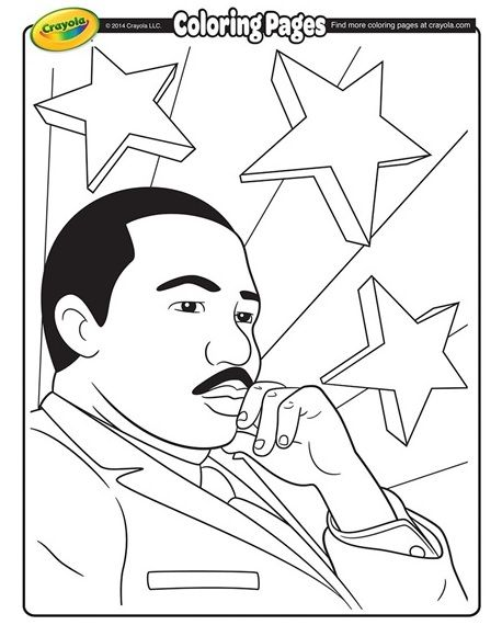 Free Printable Martin Luther King Jr Coloring Page Jan 21