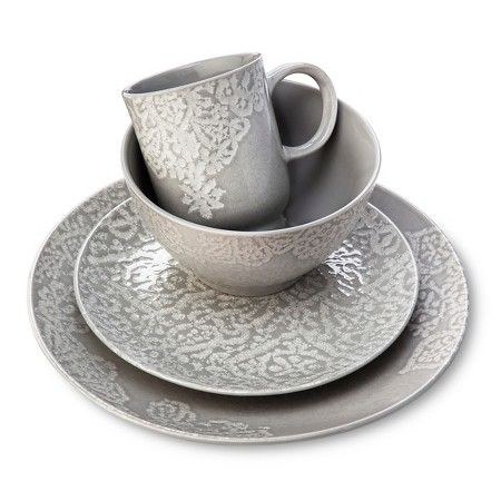 Threshold™ 16 Piece Dinnerware Set - Grey | Future Purchases | Pinterest | Dinnerware Apartments and Tablewares  sc 1 st  Pinterest & Threshold™ 16 Piece Dinnerware Set - Grey | Future Purchases ...