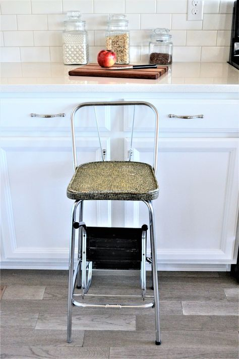 Fantastic Vintage Kitchen Stool Mid Century Modern Step Stool Caraccident5 Cool Chair Designs And Ideas Caraccident5Info