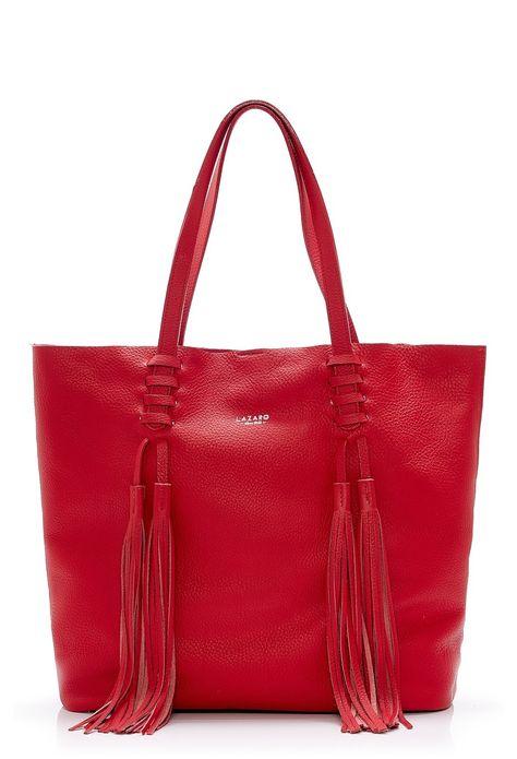 Lazaro Shopping Carmel rojo | Cartera de cuero hecha a