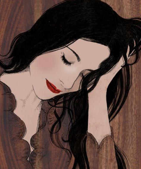 Pin De Queiti Betini Em Ilustracoes Femininas Mulher Desenho