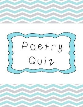 I Hope You Enjoy This Poetry Quiz Freebie It Includes A Poem With Questions About