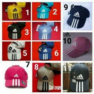 Topi Sport Adidas Untuk Cowok Dan Cewek Bahan Twill Ada