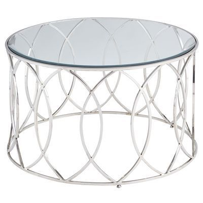 stainless steel round coffee table