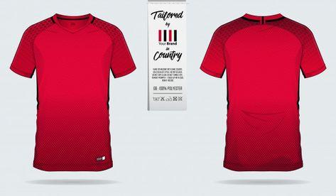 Soccer jersey or football kit template d...   Premium Vector #Freepik #vector #design #template #sport #football