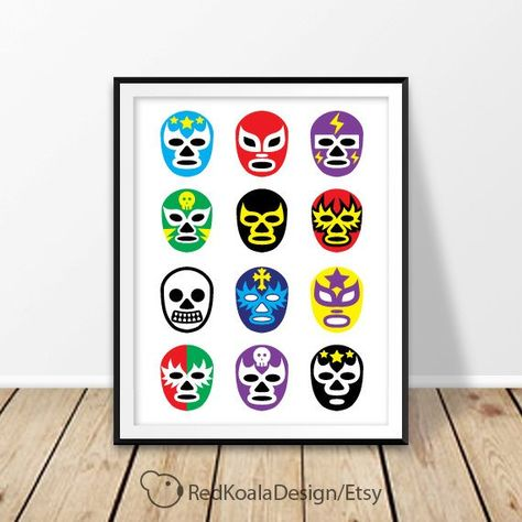 list of pinterest lucha libre mask template products pictures