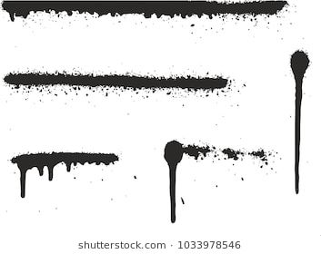 Spray Paint High Detail Abstract Vector Backgrounds Lines Drips Set 01