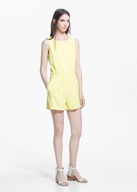 Mango Limon Sarisi Tulum Elbise Modeli Kadinlive Com Moda Stilleri Elbise Modelleri Elbise
