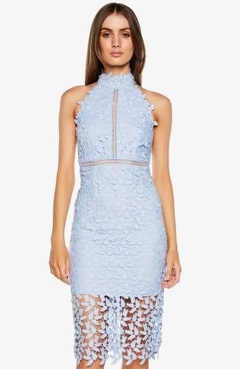 Bardot Gemma Halter Lace Sheath Dress Spring Style In 2019