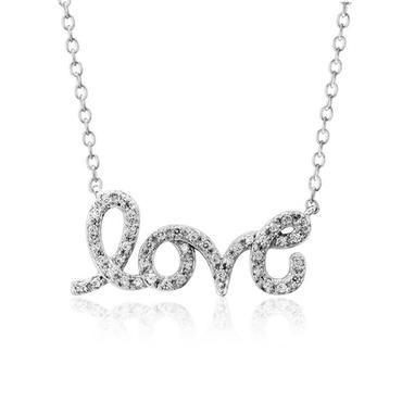 Diamond 'Love' Necklace 1/6ctw - Item N80036C | REEDS Jewelers