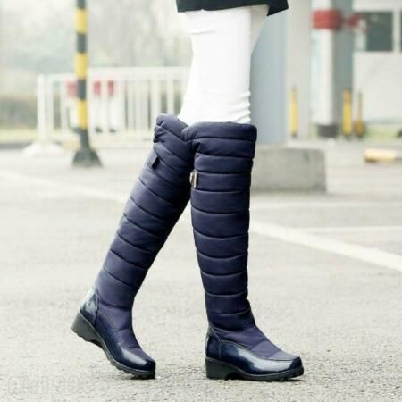 Details About Winter Women S Knee High Snow Boots Warm Waterproof Wedges Fashion Uk Shoes New Winter Shoes For Women Boots Wedges Style