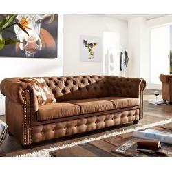 Delife Sofa Chesterfield 200x92 Cm Vintage Braun 3 Sitzer Chesterfields Delife In 2020 Mobel Sofa Sofa Leder Braun Und Sofas