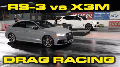 Audi Rs3 Sedan Drag Races Bmw X3 M In Husband Vs Wife Duel In 2020 Bmw Bmw X3 Audi Rs3