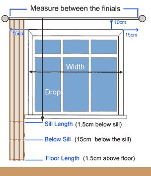 How To Measure For Curtains Diy Home Decor Pinterest Sewing Window And House
