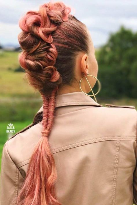 Create a perfect hairdo with the help of a braided ponytail. Remember: the first impression is always the most important one!