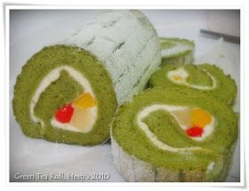 Hesti S Kitchen Yummy For Your Tummy Green Tea Roll Cake Makanan Resep Resep Kue