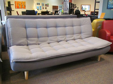 The Gozzane Sofa Bed In Town Grey Fabric And Natural Wood Legs With Images Contemporary Home Office Furniture Affordable Contemporary Furniture Home Office Furniture
