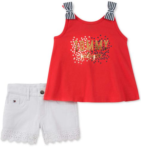 Tommy Hilfiger Baby Boys 2 Pieces Tank Top Shorts Set