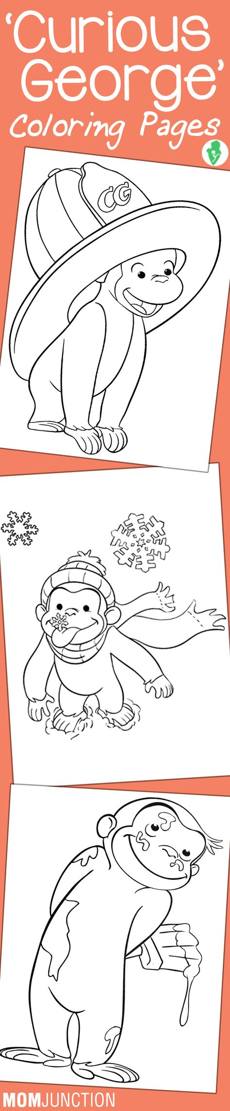 15 Best 'Curious George' Coloring Pages For Your Little Ones