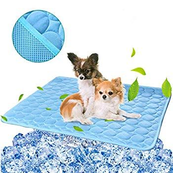 Besazw Cooling Mat Pad For Dogs Cats Ice Silk Mat Cooling Blanket Cushion For Kennel Sofa Bed Floor Car Seats C In 2020 Dog Cooling Mat Cooling Blanket Pet Cooling Mat