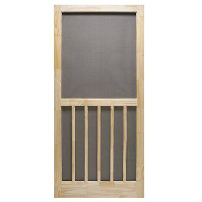 Screen Door Wood 32 X 80 Inch Wooden Screen Door Wood Screen Door Screen Door