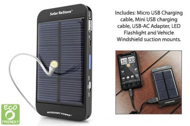 Green Technology - Solar Cell Phone Charger - $39.95