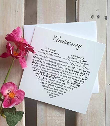 Happy Anniversary Card Sentimental Wedding Anniversary C Https Www Amazon Co Uk Dp B0 Happy Anniversary Cards Happy Anniversary Wedding Anniversary Cards