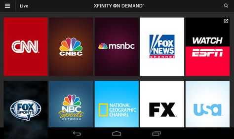 XFINITY TV Go VOD Android Comcast xfinity, Tvs, Cable