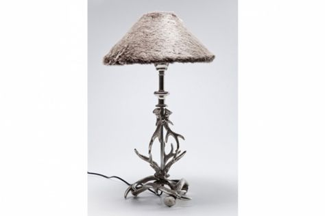 Lampe A Poser Kare Design Avec Abat Jour Fourrure Deco Design Kare
