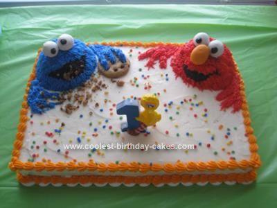 Coolest Cookie Monster And Elmo Cake Elmo Birthday Cake