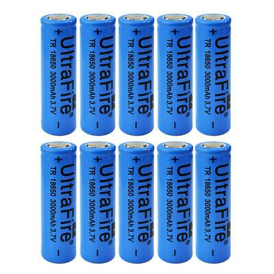 Ad Ebay Link 10pcs 18650 Battery 3 7v 3000mah Rechargeable Li Ion Flat Top For Video Doorbell Rechargeable Batteries Smart Charger Aaa Battery Charger