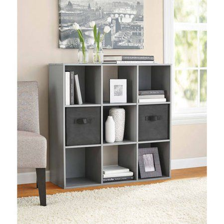 Mainstays 9 Cube Storage Organizer, White - Walmart.com | Cube Storage, Cube Storage Decor, Living Room Storage