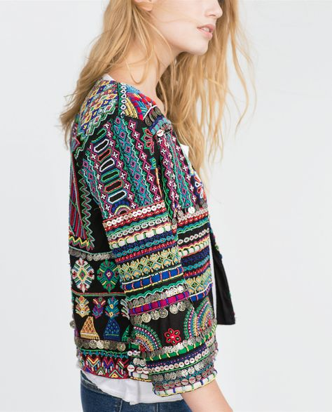 Detail of EMBROIDERED JACKET -