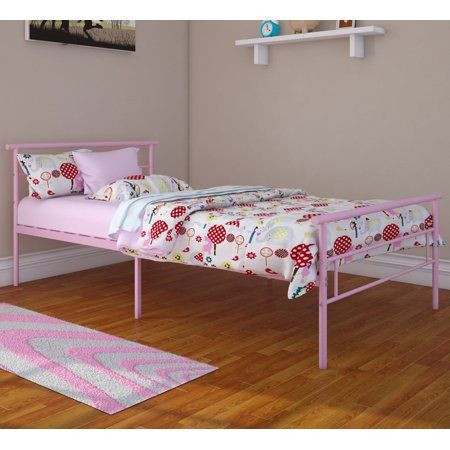 Rack Furniture Seattle Classic Metal Bed Twin Multiple Colors
