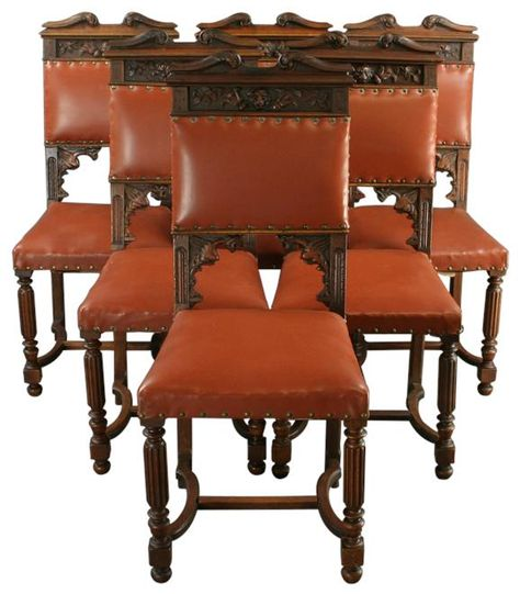 Antique french set 6 dining chairs carved lions griffin | Lions, Dining  chairs and Antique furniture - Antique French Set 6 Dining Chairs Carved Lions Griffin Lions
