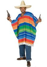 Poncho Mexikaner Faschingskostüm bunt aus der Kategorie Cowboy & Indianerkostüme. Tequila und Siesta sind die Lebensinhalte dieses lustigen Mexikaners, der sein Leben nicht allzu ernst nimmt. Mit diesem Faschingskostüm für Herren rocken Sie jede Karnevalsparty!