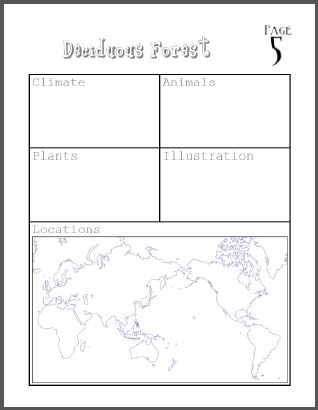 My Book About Biomes Project  Complete Research Project On Biomes