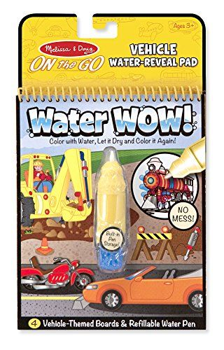 Melissa & Doug Water Wow Coloring Book - Vehicles   Travel