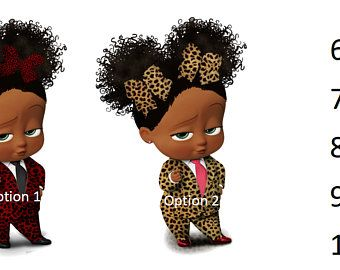 Boss Baby Girl Cheetah Etsy Boss Baby Baby Girl Art Black Girl Cartoon