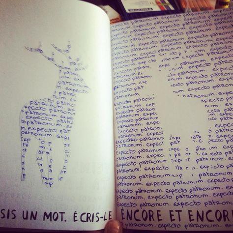 Wreck this journal - Saccage ce carnet - One word - Un mot - Harry potter - Patronus - Expecto Patronum