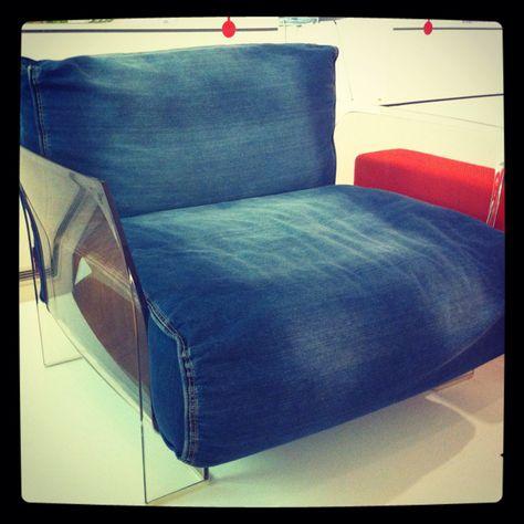 'Divano Pop' (denim couch) by Kartell