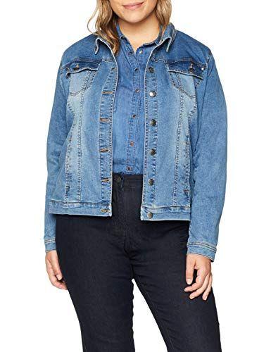 Mujer Chaqueta Vaquera Rotos Talla Grande L/öcher Jean Outwear Color S/ólido