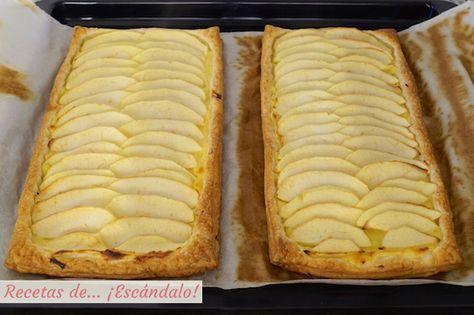 Tarta De Manzana Con Hojaldre Y Crema Pastelera Recetas De Escándalo Receta En 2021 Tarta De Manzana Tarta De Manzana Recetas Crema Pastelera