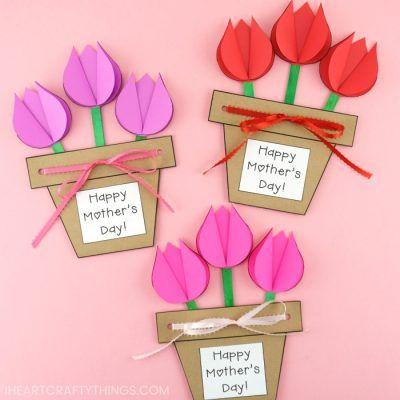 Paper Bag Monkey Craft For Kids Daycare Flower Pot Crafts