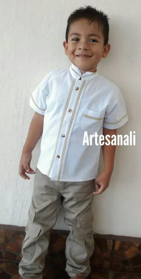 4d4e06f0da533 Mexican Boho Tribal boys Shirt/Mexican Guayaberas-color White-size 6 ...
