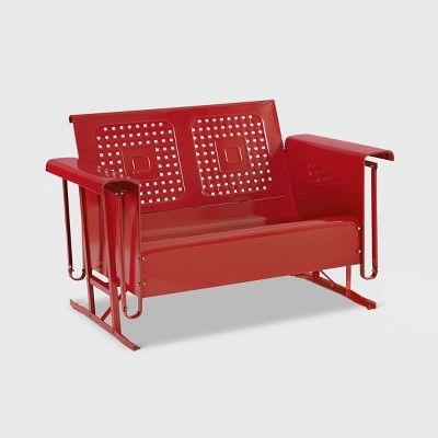 Bates Outdoor Metal Loveseat Glider Target Outdoor Loveseat Love Seat Steel Sofa