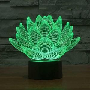 Rose 3d Illusion Lamp Decorative Night Lights 3d Illusion Lamp Color Optical Illusions