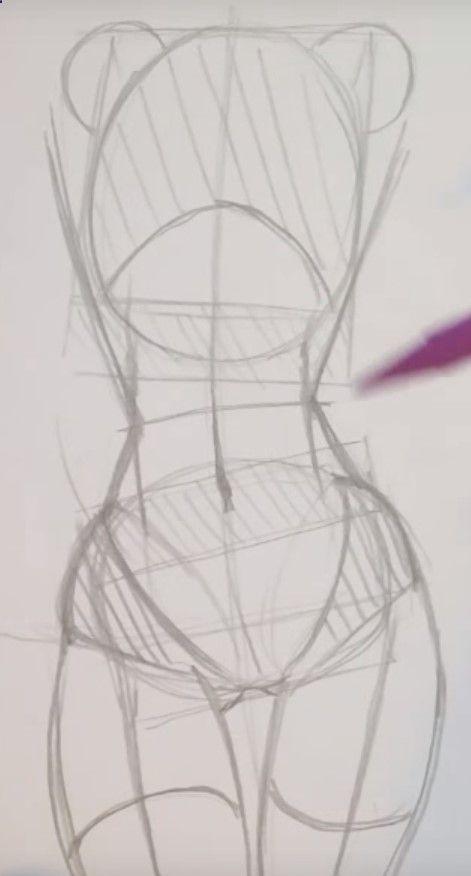 Figure Drawing Poses Desenhando o torso e o quadril feminino. Genial!