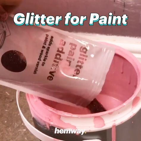 Hemway Glitter Paint Additive 😍 MAKE YOUR WALLS SPARKLE 🤩🤩🤩